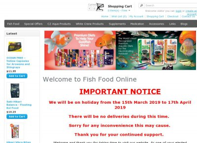 FISH FOOD ONLINE